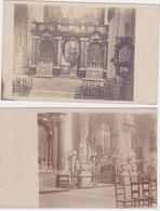 Antwerpen, 2x Fotokaarten Binnenzicht Kerk St.Jacques. - Antwerpen