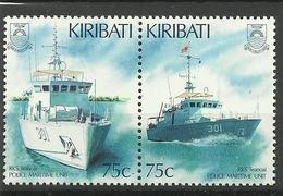 KIRIBATI 1995 POLICE MARITIME UNIT,BOATS SET MNH - Kiribati (1979-...)
