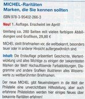 Raritäten Briefmarken Die Man Kennen Sollte MICHEL 2019 Neu 30€ Book/stamp Catalogue Of The World 978-3-95402-266-3 - Erstausgaben