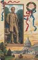 Rare Cpa La Statue D'abraham Lincoln Au Capitol Avec Gaufrage - Etats-Unis