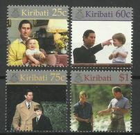 KIRIBATI 1998 18th BIRTHDAY OF PRINCE WILLIAM SET MNH - Kiribati (1979-...)