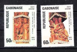 Gabon  - 1976. Sculture Lgnee .Serie Completa. Christmas. Wooden Sculptures. Complete MNH Series. - Natale