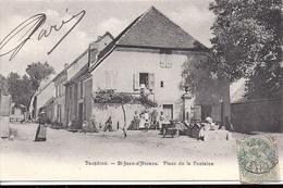 SAINT JEAN D'HERANS Place De La Fontaine 1905 Timbre Type Blanc Cachet Saint Paulien Haute Loire - Otros Municipios