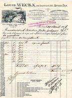 1 Faktuur Anvers-DAM Looybroeckstraat  Louis Weckx Meunerie àVapeur Grains Foins En Gros Engrais Chimiques C1906 - Belgique