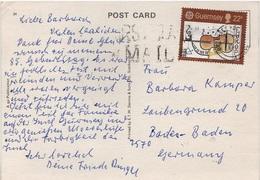 AK Guernsey Castle Cornet Bathing Pool Stamp Briefmarke Timbre Channel Islands Kanalinseln United Kingdom England UK - Guernsey