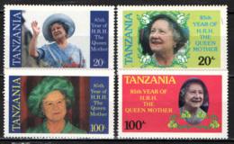 TANZANIA - 1985 - 85° COMPLEANNO DELLA REGINA MADRE - MNH - Tanzania (1964-...)