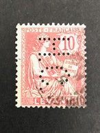 COLONIE LEVANT N° 14 H.C. 9 Indice 8 Perforé Perforés Perfins Perfin  !! Superbe - Levant (1885-1946)