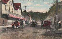 Rare Cpa Avant La Course Automobile Higland New Jersey - Etats-Unis
