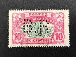 REUNION N° 86 B.R 1 Indice 6 Carte De L'ile Perfore Perfores Perfin Perfins  RARE !! - Réunion (1852-1975)