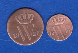 Pays  Bas  Cent  1826 B + 1/2  Cent  1881 - 1815-1840 : Willem I