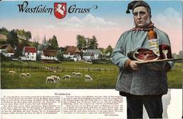 6-GRUSS---WESTFALEN-COSTUME TIPICO-STORIA DELLA REGIONE TEDESCA - Saluti Da.../ Gruss Aus...