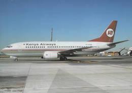 Kenya Airways Boeing B-737-3U8  5Y-KQB - 1946-....: Era Moderna