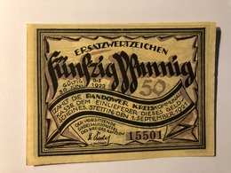 Allemagne Notgeld Stettin 50 Pfennig - [ 3] 1918-1933 : République De Weimar