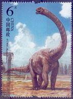 Used China 2017, Dinosaurs 1V. - 1949 - ... République Populaire