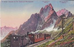 74 CHAMONIX MONT BLANC  TRAIN A CREMAILLERE DU MONTENVERS GLACIER DE LA MER DE GLACE CARTE COLORISEE EDIT PHOTOGLOB 4642 - Chamonix-Mont-Blanc