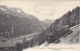 74 CHAMONIX MONT BLANC  TRAIN A CREMAILLERE DU MONTENVERS GLACIER DE LA MER DE GLACE EDITEUR JULLIEN JJ 8597 - Chamonix-Mont-Blanc