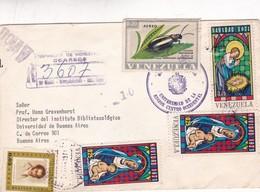1972 ENVELOPPE CIRCULEE RECOMMANDE VENESUELA TO BUENOS AIRES MIXED STAMPS - BLEUP - Venezuela
