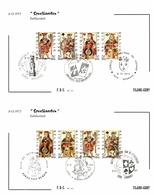 Belgium 1973 Mi. 1746-1749 COB 1695-1698 FDC, 2 Filami Cards, Playing Cards Spades Hearts Diamonds Clubs, Cartes à Jouer - Jeux