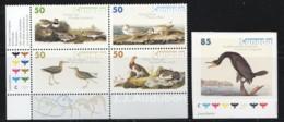 2005  Birds Of Audubon  Block Of 4 Deiiferent And Sigle From Booklet  Sc 2095-9 MNH - 1952-.... Elizabeth II