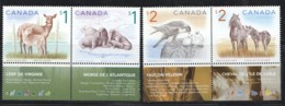 2005Wildlife: Deer, Walrus, Falcon, Horse  2 Se-tenant Pairs  Sc 1688-9, 1691-2 MNH - 1952-.... Regno Di Elizabeth II