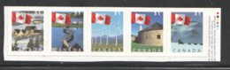 2005  Flag Over Various Sceneries  Strip Of 5 Different From Booklet  Sc 2135-9 - Ungebraucht