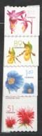 2005  Flower Definitives  Coil Singles  Sc 2128-31 - Ungebraucht
