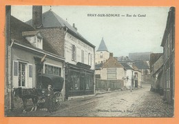 CPA - Bray Sur Somme -  Rue Du Castel - Bray Sur Somme