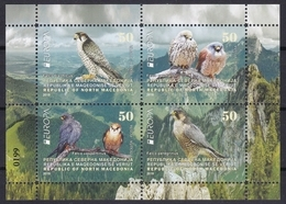 North Macedonia 2019 Europa CEPT National Birds Of Prey Falcons Animals Fauna, Booklet MNH - Altri