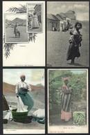 Conjunto 12 Postais S.VICENTE Cabo Verde SELOS. LOT Of 12 Old Postcards St.Vincent CAP VERT Cape STAMPS 1900s AFRICA - Cape Verde