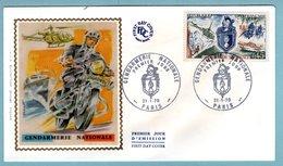 FDC France 1970 - Gendarmerie Nationale - YT 1622 - Paris - FDC