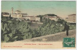 CORSE CPA  Toilée  ILE-ROUSSE - Sur La Route De Calvi - Otros Municipios