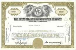 Coupon Share Action The Great Atlantic & Pacific Tea Company Ange Angel Femme - Shareholdings