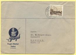Liechtenstein - 1946 - 3 - Eugen Büchel - Viaggiata Da Vaduz Per Zürich, Svizzera - Liechtenstein