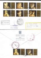 J) 1977 VATICAN CITY, SCULPTURES:HEAD OF PERICLES, ROMAN COUPLE JOINING HANDS, APOLLO BELVEDERE, HEAD, LAOCOON, HEAD, AP - Vatican