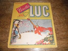 Buvard Ancien Biscottes Luc Chateauroux, Fable N°1 La Cigale Et La Fourmi, Imprimerie Beuchet Et Vanden Brugge Nantes - Zwieback