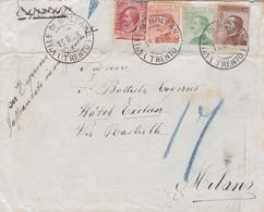 1928 ESPRESSO ENVELOPPE CIRCULEE VILLE DI BOLZANO A MILANO - BLEUP - 1900-44 Victor Emmanuel III