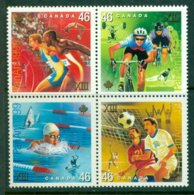 CANADA 1999 Mi 1782-85 Block Of Four** 13th Pan-American Sport Games [A1830] - Stamps