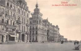 OSTENDE - La Digue Et Le Gd. Hotel Du Littoral - Oostende