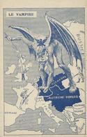 Humour Caricature LE VAMPIRE Kaiser Guillaume II D'Allemagne En Vampire TBE - Humor