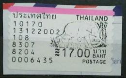 TAILANDIA 2002. ATM FAUNA. USADO - USED. - ATM - Frama (viñetas)