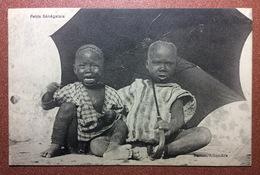 Antique Postcard 1909s Africa SENEGAL Types Boy. Huge Umbrella. Bertou, Alhambra - Senegal