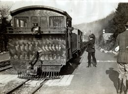 DEVON STATION FRANCIS HARDING 16 YEARS OLD CHELFHAM RAILWAY CHEMIN DE FER 21 * 16  CM Fonds Victor FORBIN (1864-1947) - Trenes