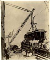 ALASKA STEAMER  RAILWAY CHEMIN DE FER 25 * 20  CM Fonds Victor FORBIN (1864-1947) - Trenes
