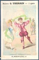 Chromo Maison G. Therrin Angers  Alfred Clarey Couple De Danseurs En Costume Danse Cinq Mars Théâtre Acte Scène - Unclassified