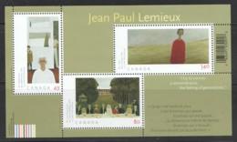 2004 Jean-Paul Lemieux, Painter Souvenir Sheet Of 3 Different Sc 2068 MNH - 1952-.... Elizabeth II