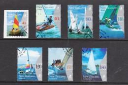 New Zealand 1999 Yachting Set Of 6 + 1 Used - New Zealand