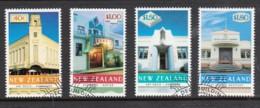 New Zealand 1999 Art Deco Buildings Set Of 4 Used - New Zealand