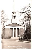 RPPC B&W - Real Photo Véritable - Sherbrooke Québec - Église Plymouth Church - Car Voiture - Petite Animation - 2 Scans - Sherbrooke