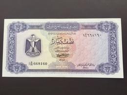 LIBYA P34B 1/2 DINAR 1972 UNC - Libya