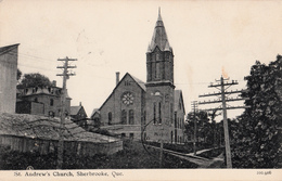Sherbrooke Québec - B&W - Église St. Andrew's Church - Written 1910 - 2 Scans - Sherbrooke
